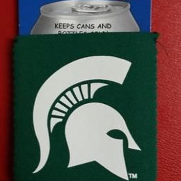 NCAA Michigan State Spartans Green Neoprene Can Holder / Can Coozie