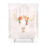 Society6 Romantic Boho Buffalo Shower Curtains