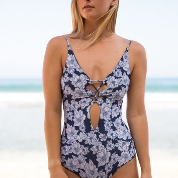 ACACIA Swimwear 2018 EXCLUSIVE Kokomo One Piece in Blue Magnolia