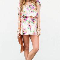 Show Me Your Mumu ~ Rowdy Romper ~ Pansy Party