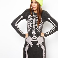 ASOS Bodycon Dress With Skeleton Print