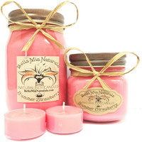 Summer Strawberry Natural Hand Poured Soy Candles