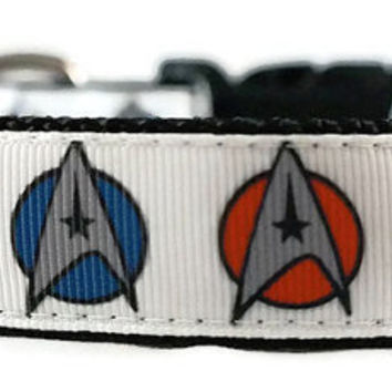 Star Trek Adjustable Dog Collar - 1 Inch Wide