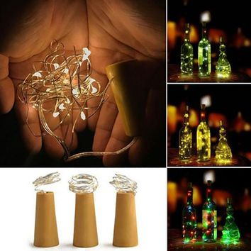 Creative 8 LED Bottle Light Cork Shape Starry String Lights For Party