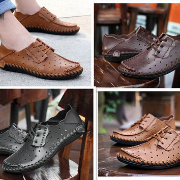 Loafers Release Men Leather Shoes Comfort Loafers Casual Breathable