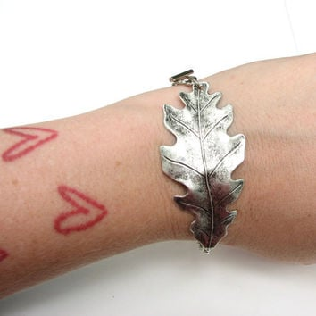 oak leaf bracelet - nature jewelry autumn fashion