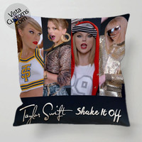 Taylor Swifts Shake It Off Collage 2 pillow case, cover ( 1 or 2 Side Print With Size 16, 18, 20, 26, 30, 36 inch )