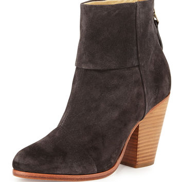 Classic Newbury Leather Ankle Boot, Asphalt