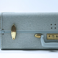 Vintage Samsonite Baby Blue Suitcase