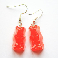 Strawberry Gummy Bear Earrings