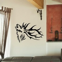 Wall Decal Vinyl Sticker Wild Animal Deer Reindeer Decor Sb429