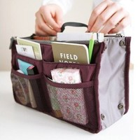 Nylon Handbag Insert Comestic Gadget Purse Organizer (Wine Red): Amazon.ca: Home & Kitchen