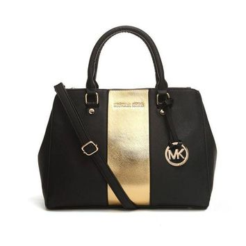 DCCKNQ2 Michael Kors MK Leather Handbag Tote Shoulder Bag Satchel-6