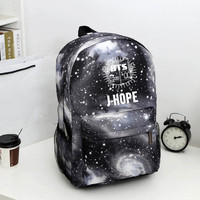 Bangtan Boys BTS backpack korean kpop stars school bag for boys and Girls V Rap Monster JIN SUGA