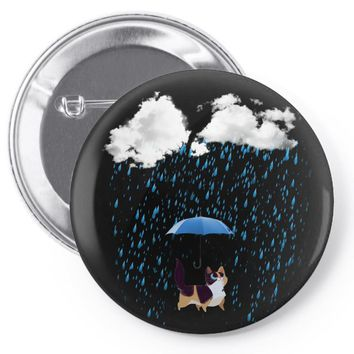 cat rain Pin-back button