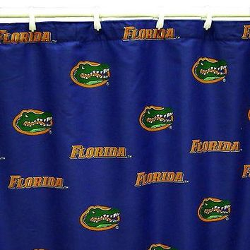 Florida Gators Shower Curtain Cotton Sateen Fabric