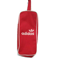 80's Retro Adidas Shoe Bag / Luggage / 1980's Vintage Shoe Case / Gym Bag / Red and White / Three Stripes / Trefoil