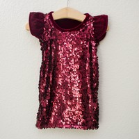 Ruby Sequin Holiday Dress ©