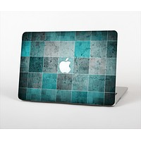The Dark Teal Tiled Pattern V2 Skin Set for the Apple MacBook Pro 13""