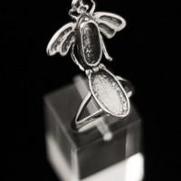 Bee Poison Sterling Silver Ring