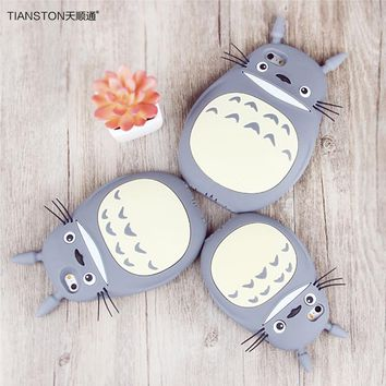TIANSTON For iPhone 7 7plus Cases 3D Silicone Totoro Case Cartoon back cover ultra soft funda Lovely Funny Case for apple 7 plus