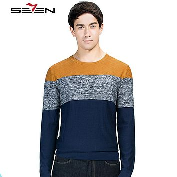 Cashmere Wool Sweater Men Striped O neck Male knitwear Jumpers Men pullover sweaters Christmas Gift