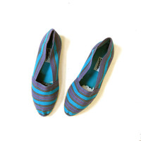 vintage colorful canvas beach shoes. Espadrilles slip on shoes.