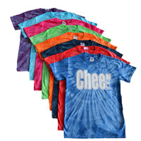 "Cheerleading Tie Dye T-Shirt- ""Cheer"" White Logo"