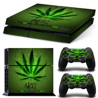 Green Leaf PS4 Anti-slip Skin Decal Stickers