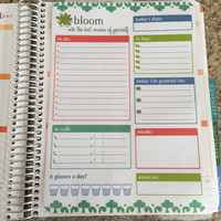 FREE SHIPPING Meal Planning Chores Hydrate & To Do List Laminated Dashboard Insert for Erin Condren Life Planner - clips right into coils!