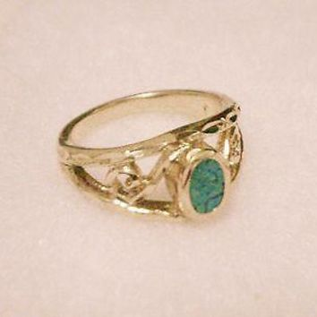 bling gold plated overlay turquoise rock stone toe thumb hip hop ring bonded hot