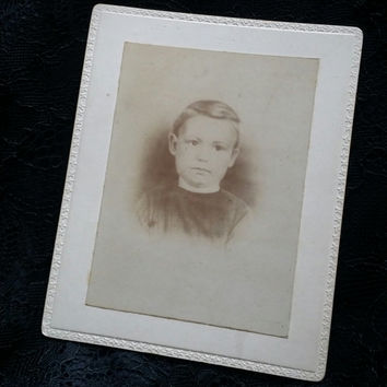 ghost Victorian boy cabinet card