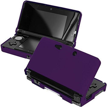 Purple Hard Rubberized Case Cover for Nintendo 3DS