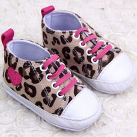 Leopard Heart Sneakers