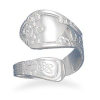 Sterling Silver High Polish Spoon Ring / Size 10
