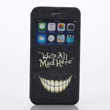 were all mad here Print Leather Case Cover for iPhone 6S 6 Plus Samsung Galaxy S6-170928