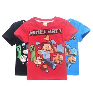 roblox 2018 cotton  Freddy blouse pokemon  siwa vampirina Minecraft fashion Boys Girls T-Shirty new  Our world