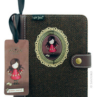 Gorjuss Tweed Notebook - I Found My Family In A Book from Santoro