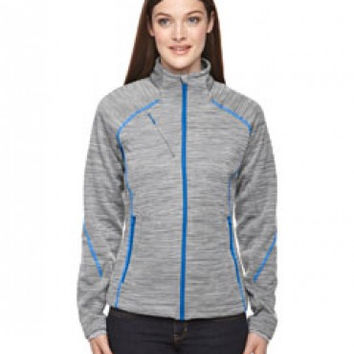 North End Sport Red Ladies' Flux Melange Bonded Fleece Jacket