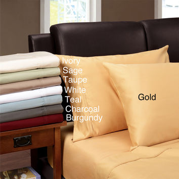 Egyptian Cotton 1200 Thread Count Solid Color Pillowcase Set | Overstock.com Shopping - The Best Deals on Pillowcases & Shams