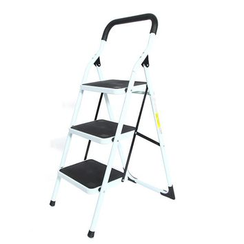 Portable Family-use Ladder 3 Steps Folding Stool Ladders Stair Platform Homestyle