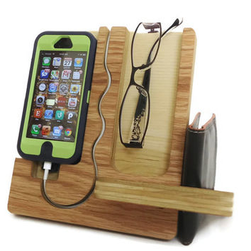 IPhone 4 IPhone 4S IPhone 5 Wood Dock  Valet by undulatingcontours
