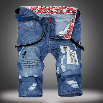 Denim Summer Ripped Holes Pants [1922680225885]