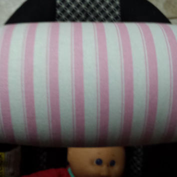 Pink and White Padded Baby Carrier Handle, Infant Car Seat Handle Cover Pad