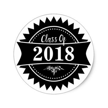 Badge Class of 2018 Classic Round Sticker