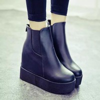 Hot Deal On Sale Waterproof Wedge Winter Shoes Club Sexy Height Increase Platform Boot