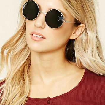 Star Cutout Round Sunglasses