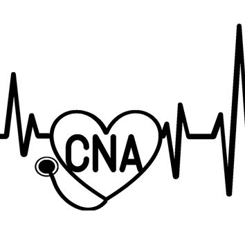 Heartbeat CNA Vinyl Graphic Decal