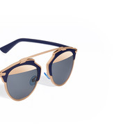 """dior so real"" sunglasses, bleu marine and pink gold - Dior"