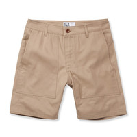 SURF+CRAFT TWILL SHORT // KHAKI